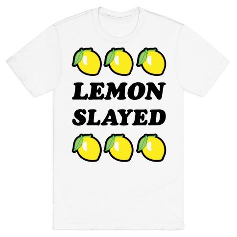 Lemon Slayed Parody Mens T-Shirt