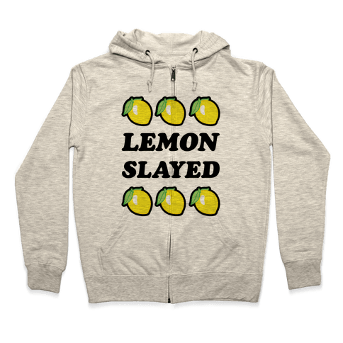 Lemon Slayed Parody Zip Hoodie