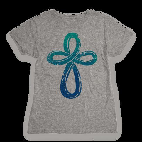 Infinity Cross Womens T-Shirt