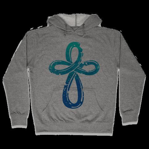 Infinity Cross Hooded Sweatshirt