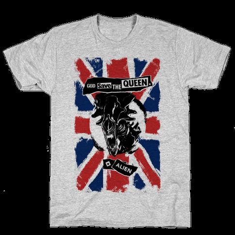 God Save the Queen (Alien) Mens T-Shirt
