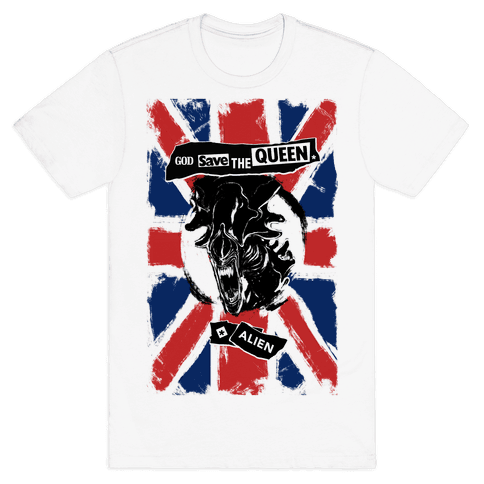 God Save the Queen (Alien) Mens T-Shirt