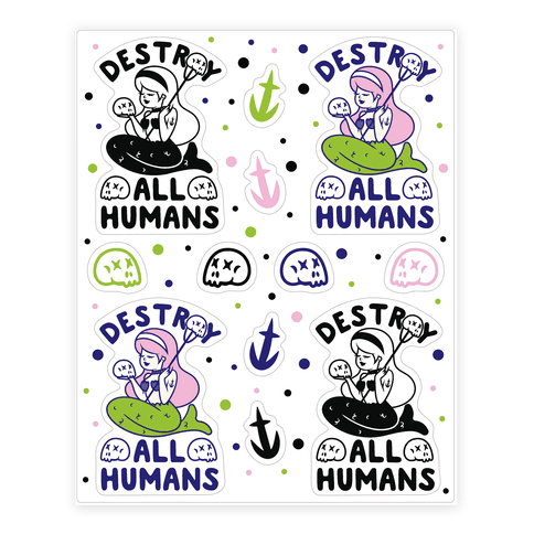 Destroy All Humans  Sticker/Decal Sheet