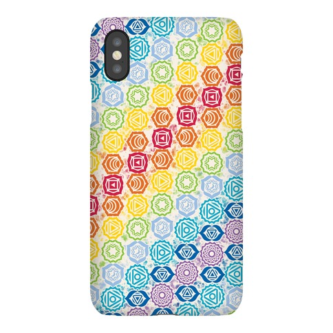 Watercolor Chakra Symbol Pattern Phone Case