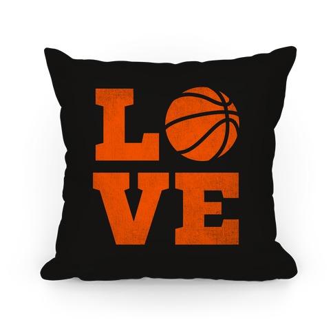 Love Basketball Pillow
