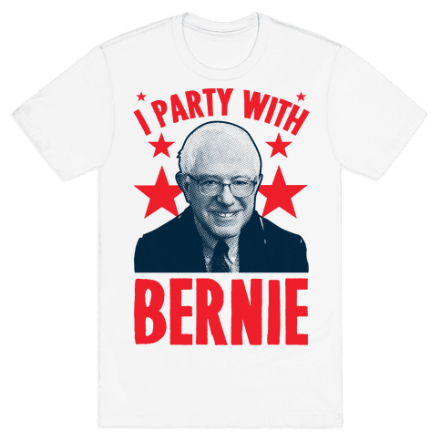 I Party With Bernie  Mens T-Shirt