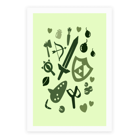 Link's Inventory Poster