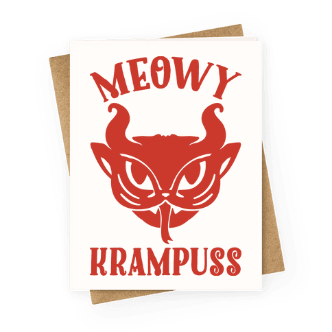 Meowy Krampuss Greeting Card