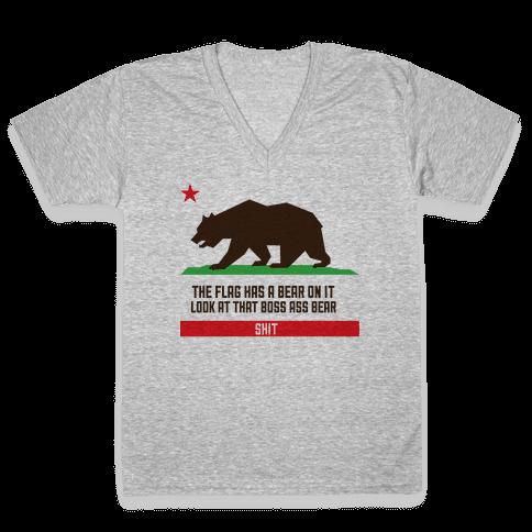 Boss Bear V-Neck Tee Shirt