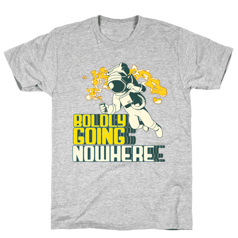 Boldly Going Nowhere (Vintage) Mens T-Shirt
