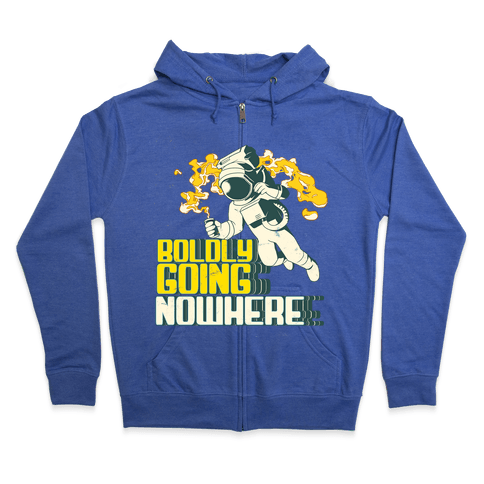 Boldly Going Nowhere (Vintage) Zip Hoodie