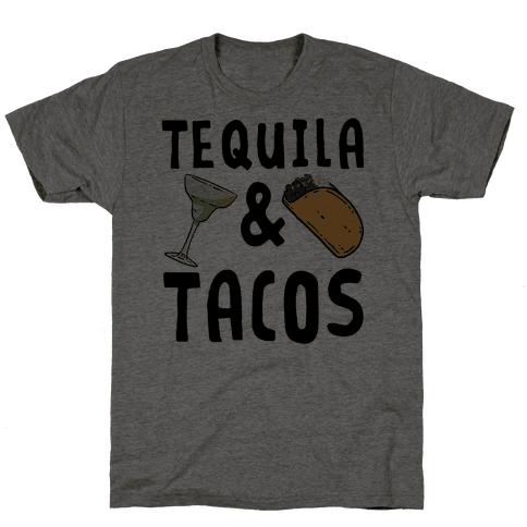 Tequila & Tacos Mens T-Shirt