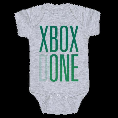 Xbox Done Baby Onesy