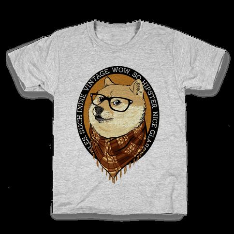 Hipster Doge Kids T-Shirt