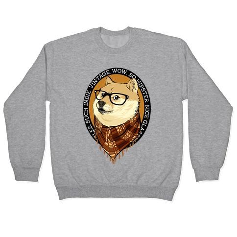 Hipster Doge Pullover