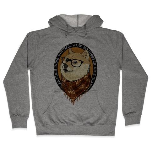 Hipster Doge Hooded Sweatshirt