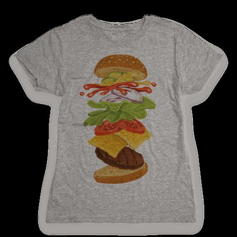 Anatomy Of A Burger Womens T-Shirt
