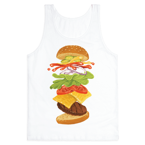 Anatomy Of A Burger Tank Top