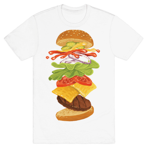 Anatomy Of A Burger Mens T-Shirt