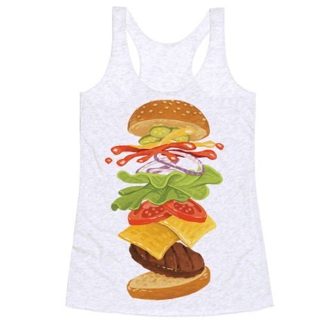 Anatomy Of A Burger Racerback Tank Top