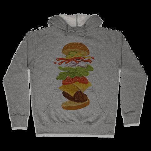 Anatomy Of A Burger Hooded Sweatshirt