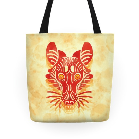 Symmetrical Gilded Fox Tote