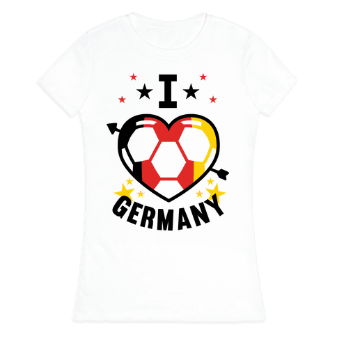I Love Germany (Soccer) Womens T-Shirt