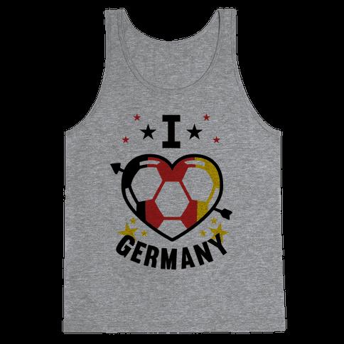 I Love Germany (Soccer) Tank Top