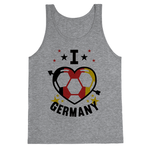 I Love Germany (Soccer) Tank Top