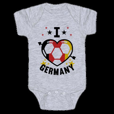 I Love Germany (Soccer) Baby Onesy
