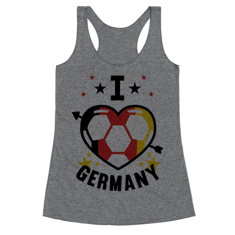 I Love Germany (Soccer) Racerback Tank Top
