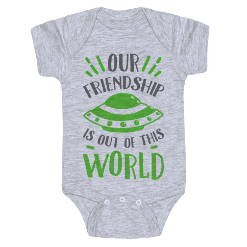 Our Friendship Is out of This World Baby Onesy
