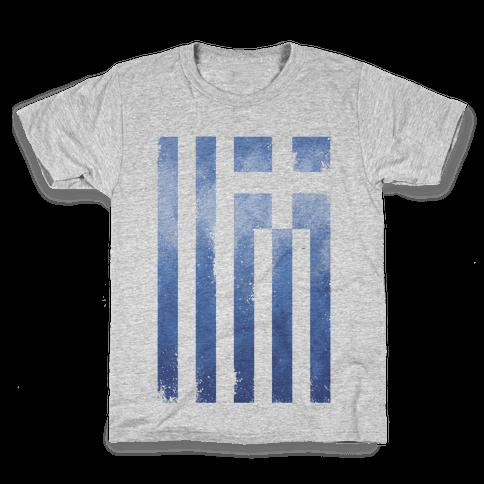 Vintage Greek Flag Kids T-Shirt