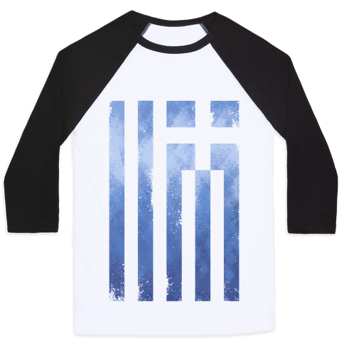 Vintage Greek Flag Baseball Tee