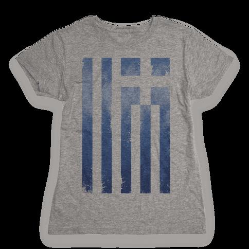 Vintage Greek Flag Womens T-Shirt