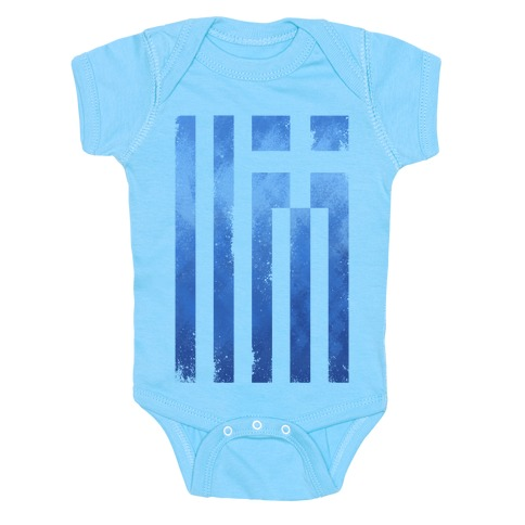 Vintage Greek Flag Baby Onesy