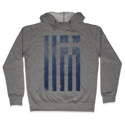 Vintage Greek Flag Hooded Sweatshirt