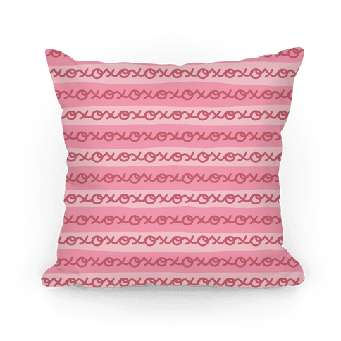 Hugs and Kisses XOXO Pillow (Pink) Pillow