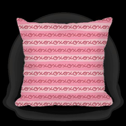 Hugs and Kisses XOXO Pillow (Pink)