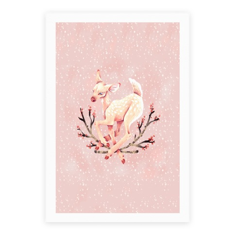 Pastel Peaceful Fawn Poster