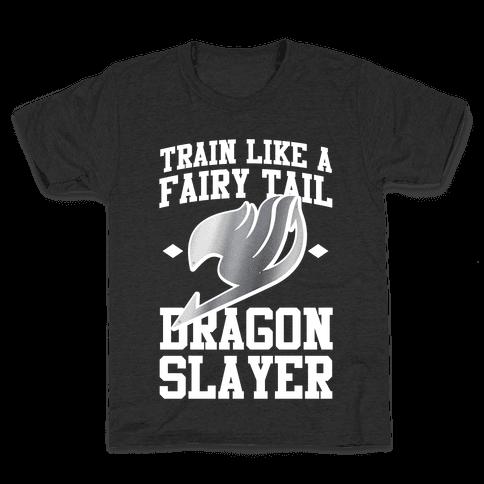 Train Like a Fairy Tail Dragon Slayer (Gajeel) Kids T-Shirt