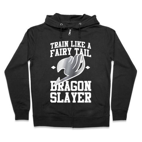 Train Like a Fairy Tail Dragon Slayer (Gajeel) Zip Hoodie