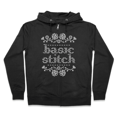 Basic Stitch Zip Hoodie