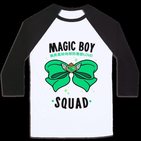 Magic Boy Squad (Green) Baseball Tee