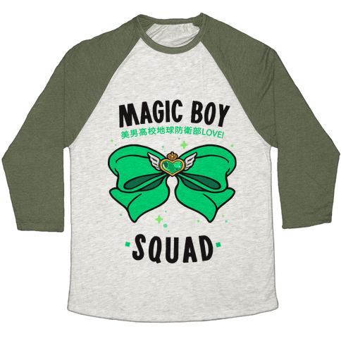 Magic Boy Squad (Green) Baseball Tee