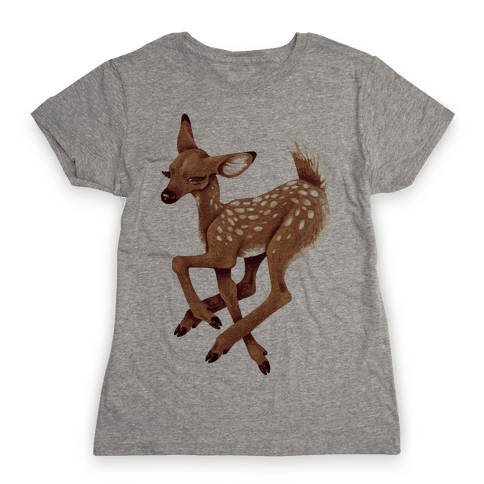 Peaceful Fawn Womens T-Shirt