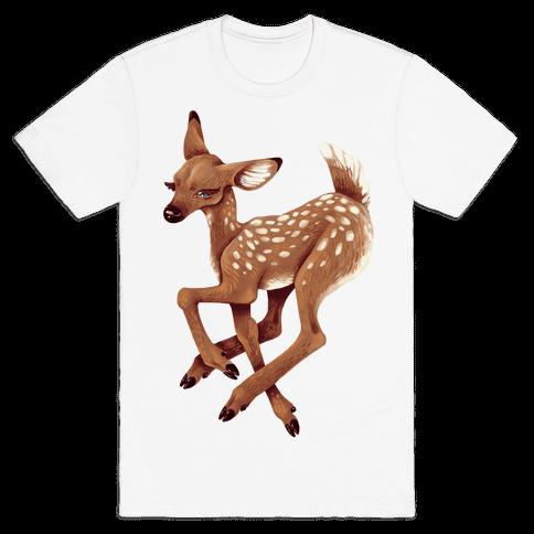 Peaceful Fawn Mens T-Shirt