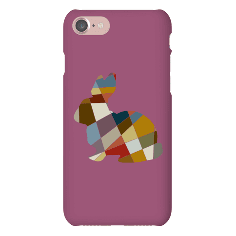 Mosaic Bunny Pattern Phone Case