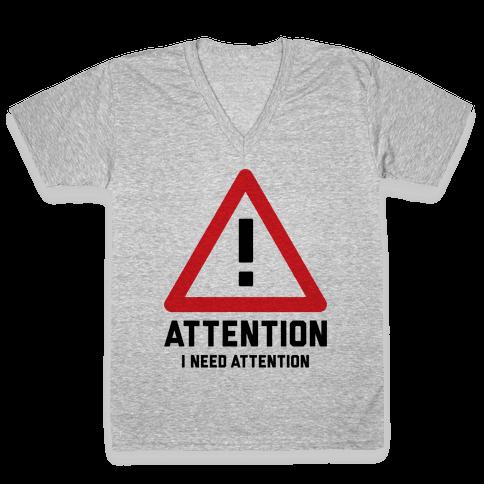 Attention V-Neck Tee Shirt