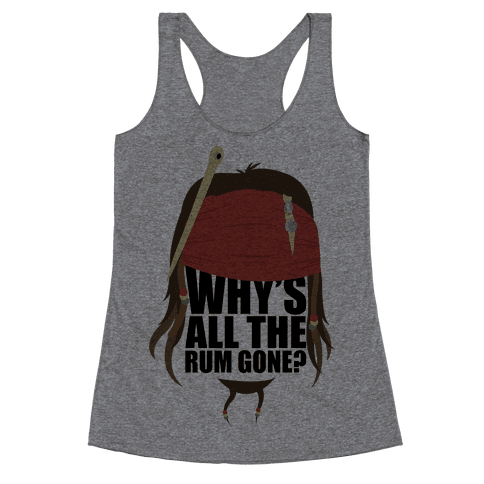 Why's All the Rum Gone? Racerback Tank Top